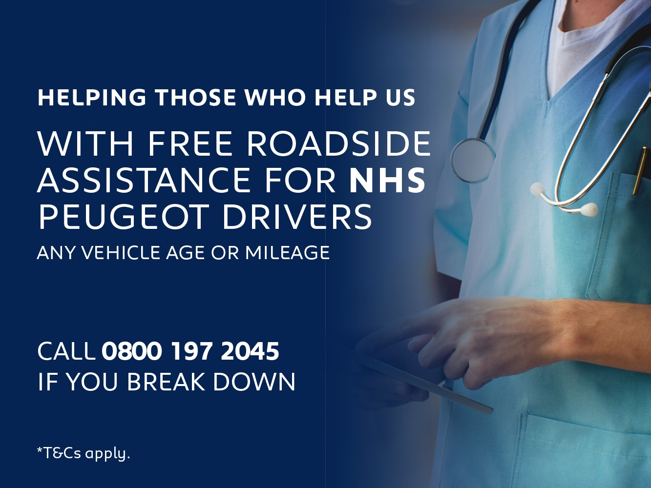 Free Peugeot Roadside Assistance for NHS Staff